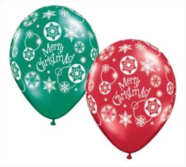 Merry Christmas Latex Balloons