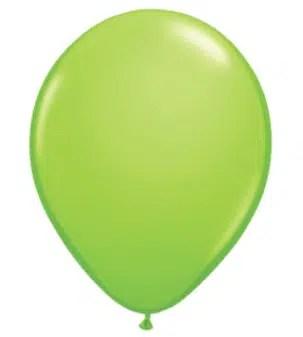 Lime Green Latex Balloon