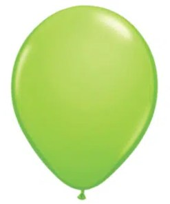 Lime Green Latex Balloon
