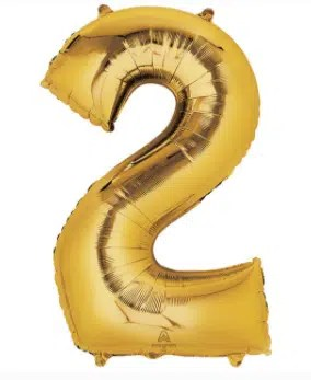Number Balloon 2 Gold