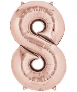 Number Balloon 8 Rose Gold