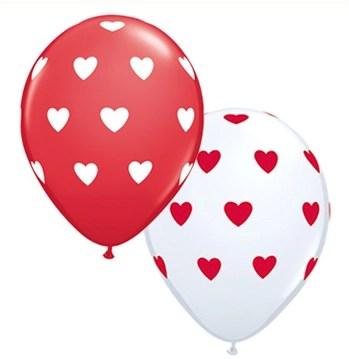Red & White Heart Latex