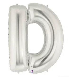 Letter Balloon D Silver
