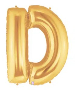 Letter Balloon D Gold