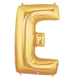 Letter Balloon E Gold
