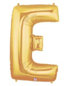 Letter Balloon E Gold