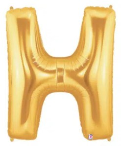 Letter Balloon H Gold