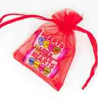 Organza Bag Red Love Hearts