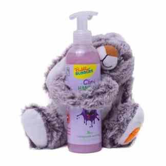 Bubbly Bubbles Geschenk knuffelkonijn handzeep paars