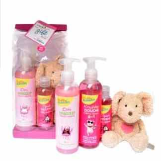 Bubbly Bubbles geschenkset roze met knuffelschaap
