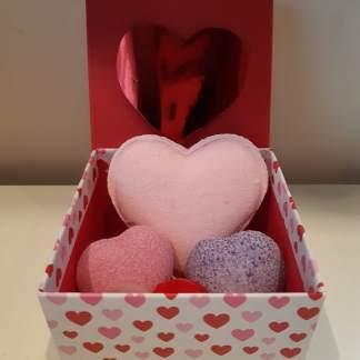 Valentijnsbox roze paars