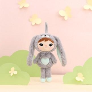 Metoo konijn grijs-munt knuffel 30cm