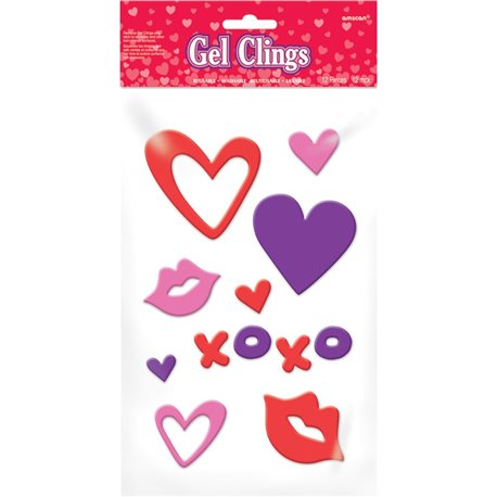 Valentines Day Small Gel Clings Amscan 220038 1 Piece