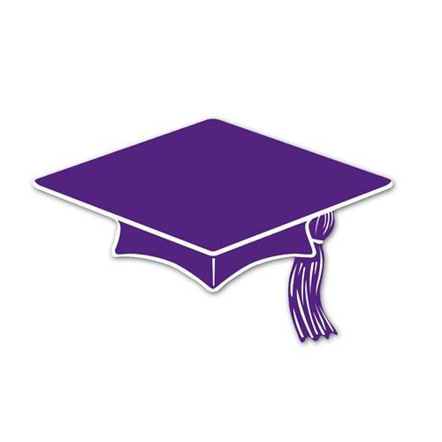 Purple Graduation Cap 2015