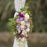 Beautiful Chuppah Flowers in violets and blush