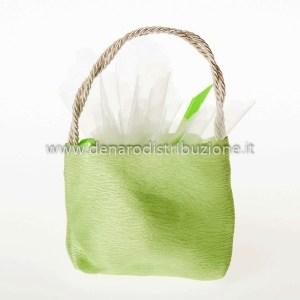 Borsetta Moire Verde (10 pz)-0
