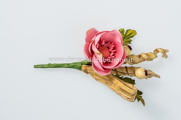 Ranuncolo mini mazzolino Rosa antico (12 pezzi)-0