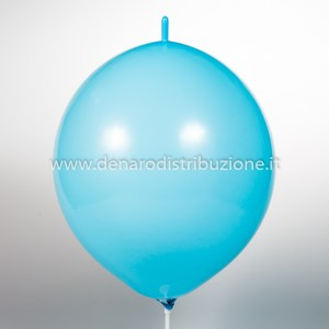 "Palloncino Tondo Link Celeste Pastello 14""/35 cm. (100 Pezzi)-0"