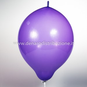 "Palloncino Tondo Link Viola Pastello 14""/35 cm. (100 Pezzi)-0"