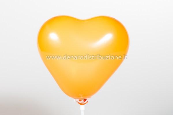 """Palloncino Cuore Arancione Pastello 5""""/13 cm. (100 Pezzi)-0"""