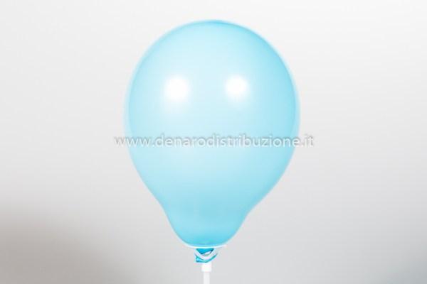 "Palloncino Tondo Celeste Pastello 5""/13 cm. (100 Pezzi)-0"