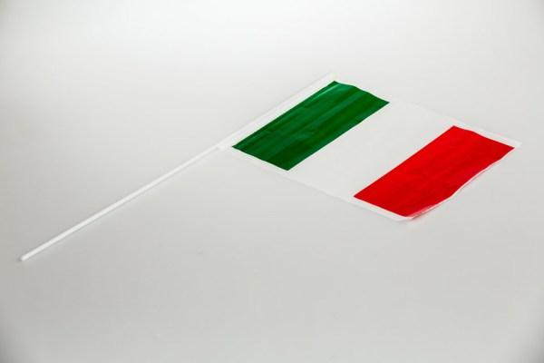 Bandierine Italia con asta (24pz)-0