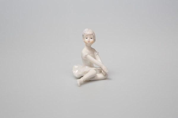 Ballerina in porcellana seduta piccola h 7 cm (4 pz)-0