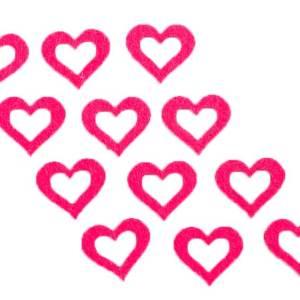 Applicazione cuore rosso in feltro (12 pz)-0