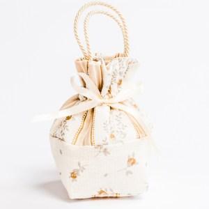 Sacchetto Borsetta Piccolo colore Panna Manico Cordoncino (10 pz)-0