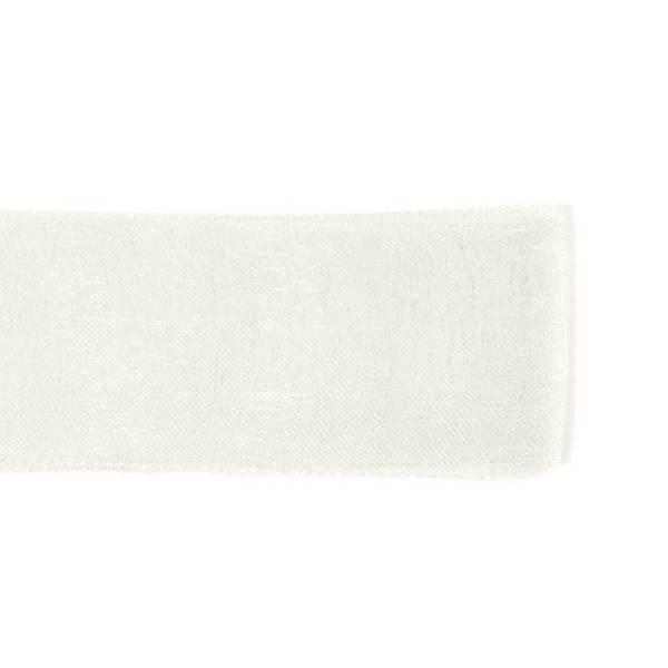 Nastro Organza Bianco 10 mm-0