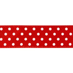 Nastro doppio raso pois Rosso 10 mm-0