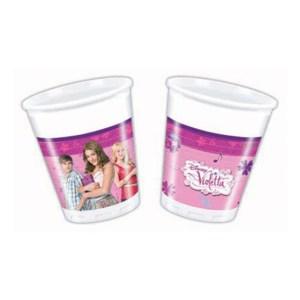 Bicchieri Violetta Compleanno | 200 ml (8 pz)-0