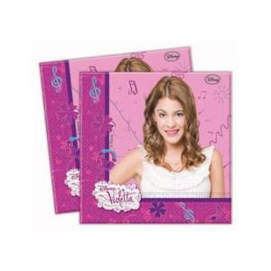 Tovaglioli Violetta Compleanno | 33 x 33 cm (20 pz)-0