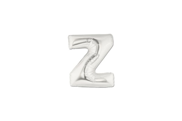 "Palloncino Lettera ""Z"" Mylar Silver (10 pezzi)-0"