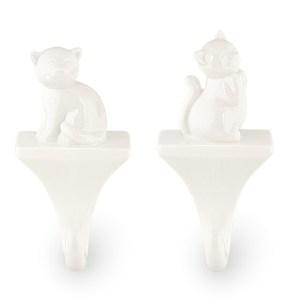 Appendino Gatto in Porcellana Bianca (6 PEZZI)-0