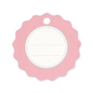 Chiudipacco rotondo comunione rosa (150 pezzi)-0