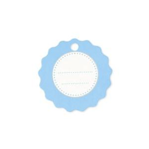 Chiudipacco rotondo celeste (150 pezzi)-0