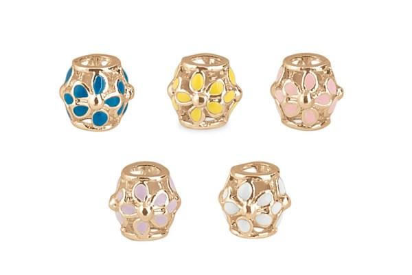 Ciondoli charm distanziatori rosegold assortiti (25 pezzi)-0