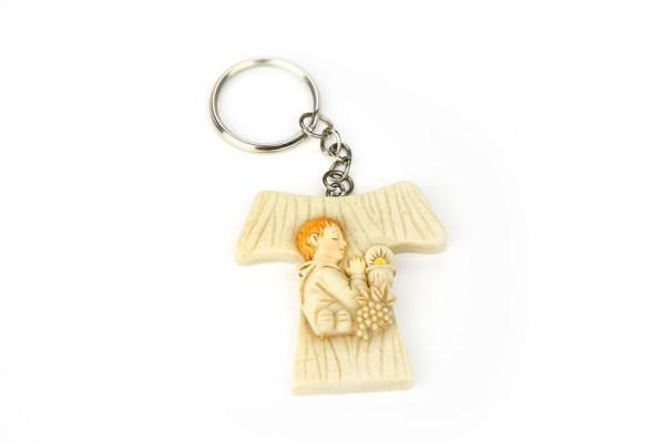 Portachiavi Croce Tao Comunione Bambino 4 cm (12 pezzi)-0