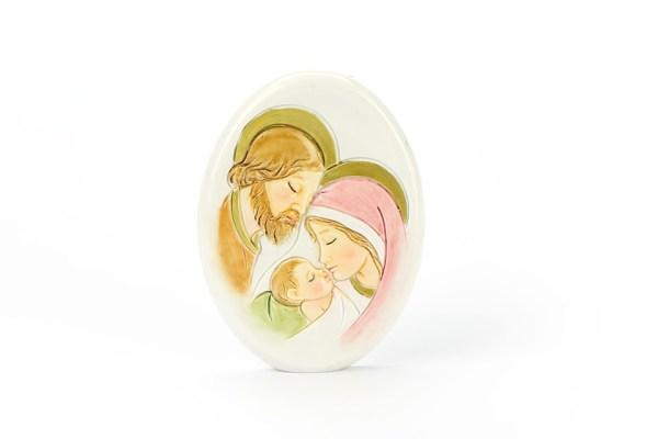 Bomboniera Sacra Famiglia Ovale 8 cm (12 pezzi)-0