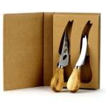 Set 2 Coltelli da Formaggio Bomboniera Linea Wood-0