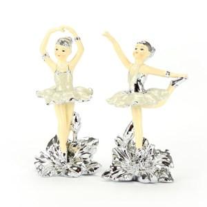Ballerina Silver in Piedi Bomboniera Piccola 14 cm (4 pezzi)-0