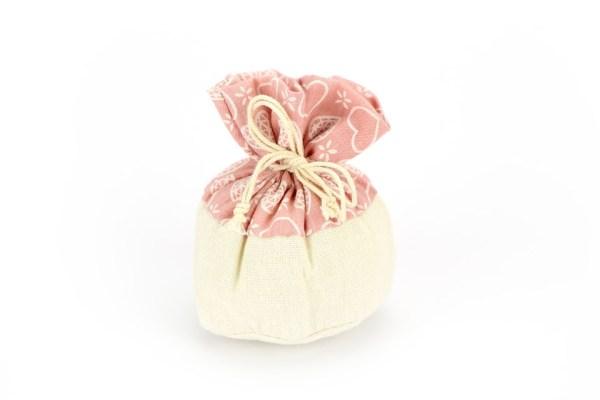 Sacchetto Portaconfetti Rustico Rosa (10 pezzi)-0