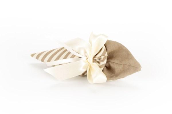 Cono Portaconfetti Jeans Righe Bianche e Beige Piccolo (10 pezzi)-0