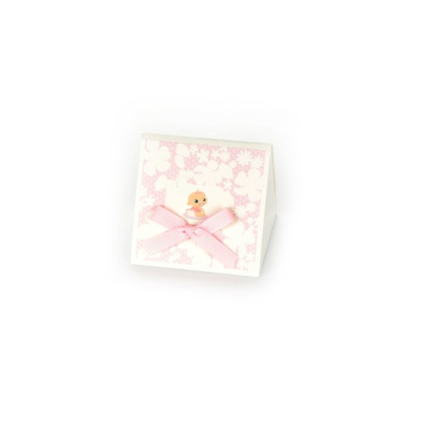SCATOLA BABY PIRAMIDE PVC ROSA (12 PEZZI)-0