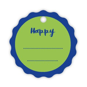 APPLICAZIONE CHIUDIPACCO ROTONDO (150 PZ) | HAPPY VERDE/BLU -0