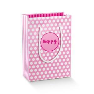SHOPPER BOX CON CORDINO 13 X 7 X 18 CM (10 PZ) | HAPPY ROSA/FUCSIA-0