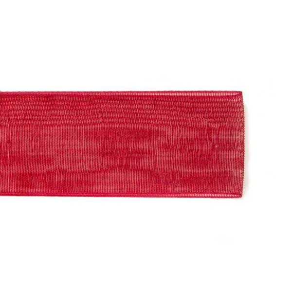 Nastro Organza Rosso 10 mm   50 METRI-0