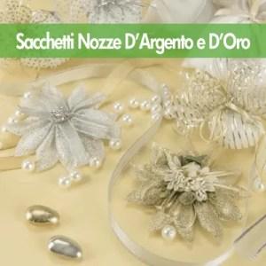Sacchetti Nozze D'Argento e Nozze D'Oro