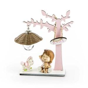 bomboniera albero luce rosa - Denaro distribuzione
